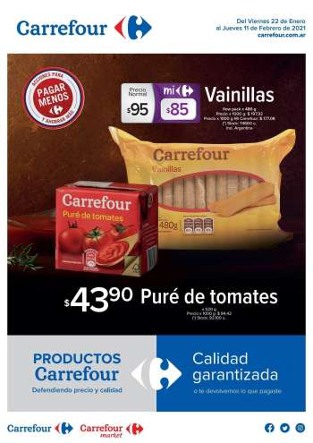 Folleto actual Carrefour Hipermercados - 22.1.2021 - 11.2.2021.