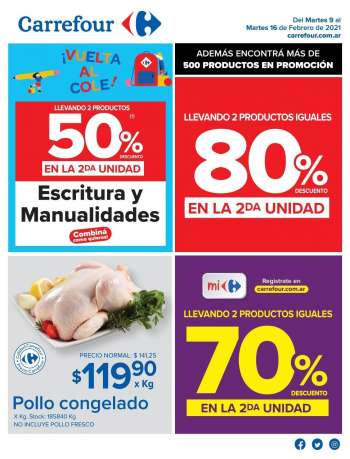 Folleto actual Carrefour Hipermercados - 9.2.2021 - 16.2.2021.